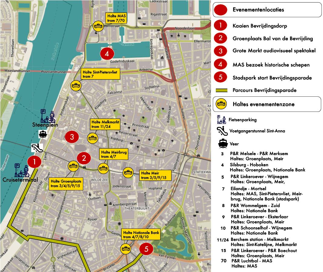 Geraak Vlot Op De Bevrijdingsdagen Slim Naar Antwerpen